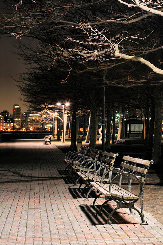 Pier A Poster featuring the photograph A Night In Hoboken by JC Findley