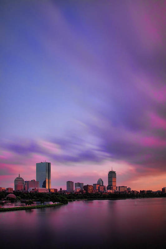 Boston Poster featuring the photograph Boston Afterglow by Rick Berk