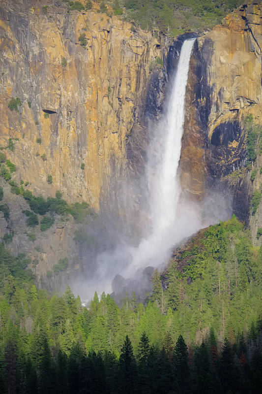 Bridalveil Falls Poster featuring the photograph Bridalveil Falls Spring Flow by Patricia Davidson
