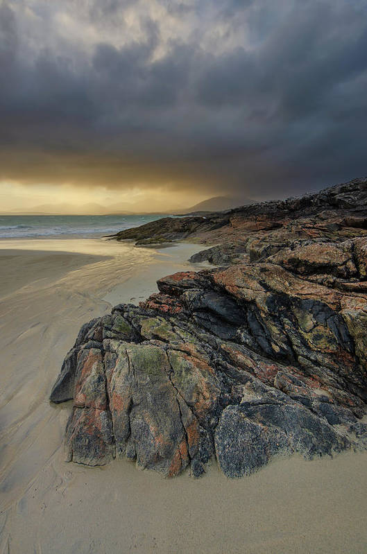 Luskentyre Beach Poster featuring the mixed media Luskentyre Sunset by Smart Aviation