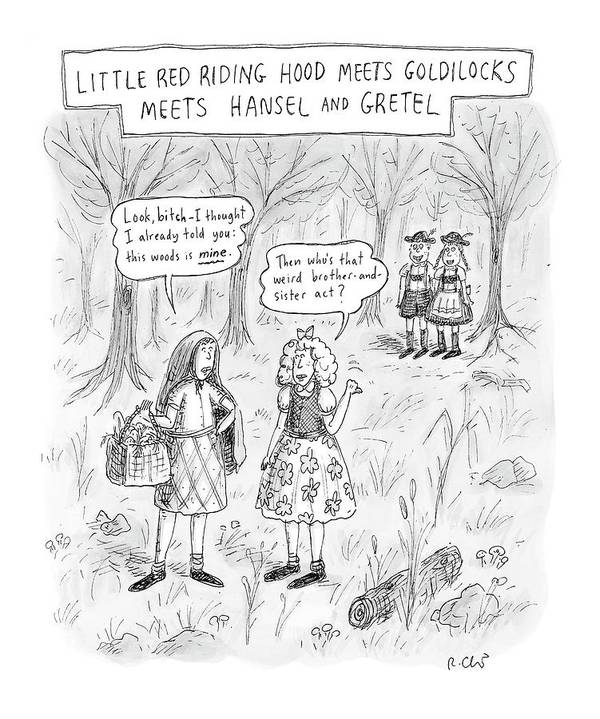 Fairy Tale Poster featuring the drawing New Yorker April 16th, 2007 by Roz Chast