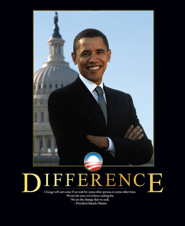 Barack Obama Poster featuring the photograph Barack Obama Difference by Retro Images Archive