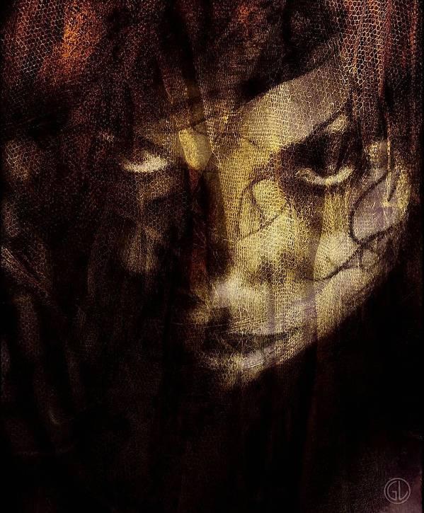 Woman Poster featuring the digital art Behind The Veil by Gun Legler