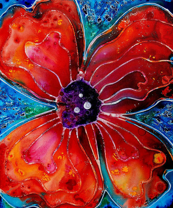 Poppy Art Poster featuring the painting Bloom by Sharon Cummings