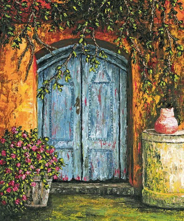 Door Poster featuring the painting The Blue Door by Darice Machel McGuire