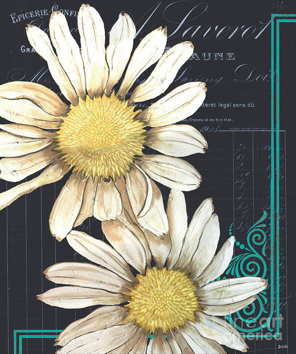 Daisy Poster featuring the painting Tranquil Daisy 1 by Debbie DeWitt