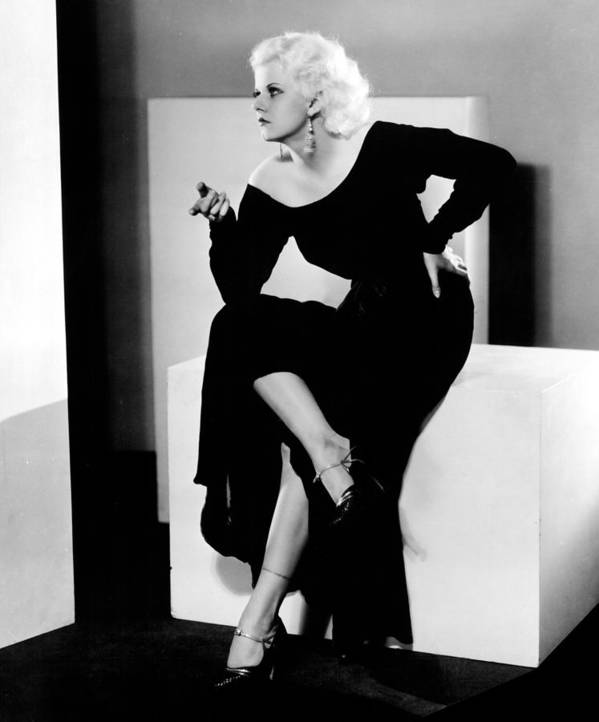 1930s Fashion Poster featuring the photograph Jean Harlow, 1932 by Everett
