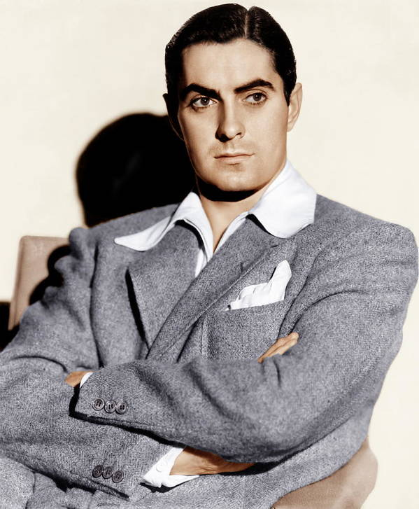 1940s Portraits Poster featuring the photograph Tyrone Power, Ca. 1940s by Everett