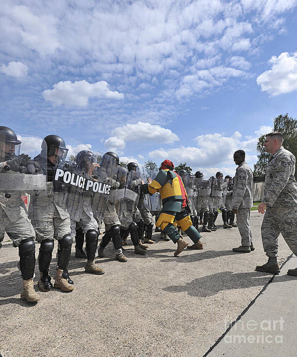 Violence Poster featuring the photograph U.s. Air Force 86th Security Forces by Stocktrek Images