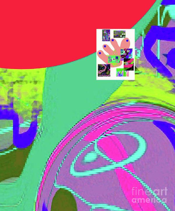 Walter Paul Bebirian Poster featuring the digital art 8-14-2015fabcde by Walter Paul Bebirian