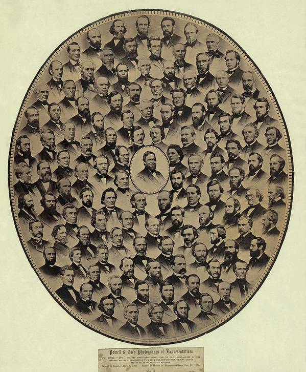 History Poster featuring the photograph Members Of The U.s. House by Everett