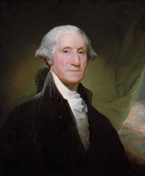 George Washington Poster featuring the painting President George Washington by War Is Hell Store