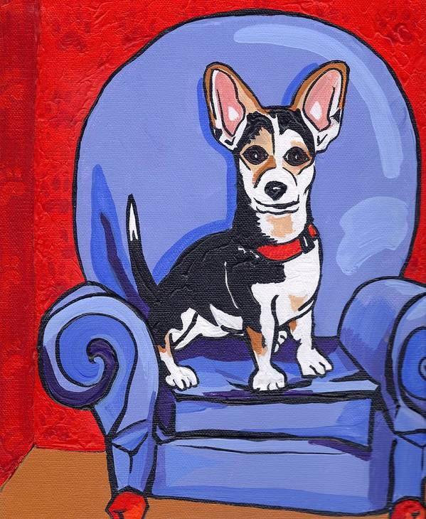 Dog Poster featuring the painting Queen Lucy by Laura Brightwood