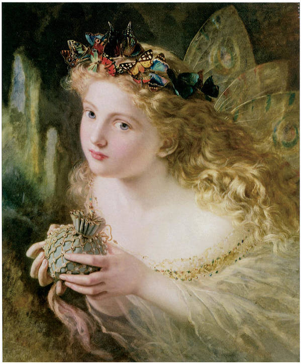 Sophie Anderson Poster featuring the painting Thus Your Fairy's Made Of Most Beautiful Things by Sophie Anderson