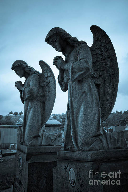 Afterlife Poster featuring the photograph Angels In Prayer by Amy Cicconi
