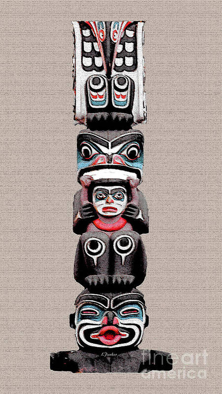 Eskimo Poster featuring the photograph Vancouver Totem - 5 by Linda Parker