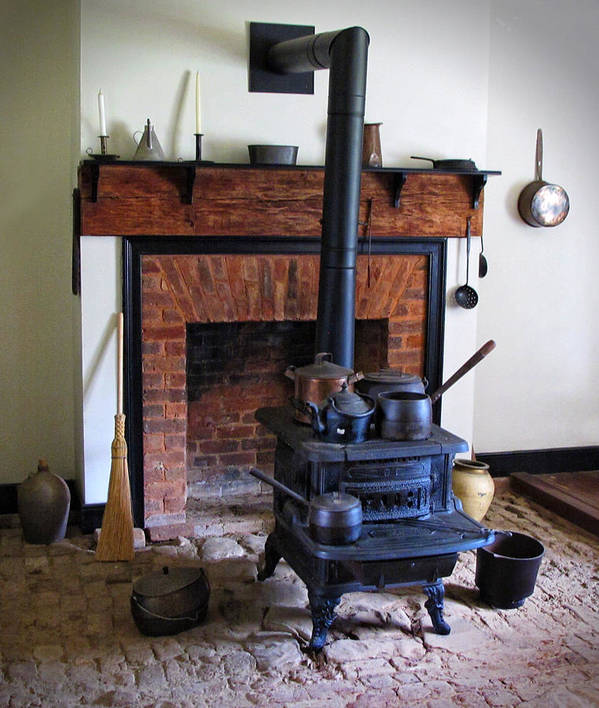 Wood Burning Stove Poster featuring the photograph Wood Burning Stove by Dave Mills