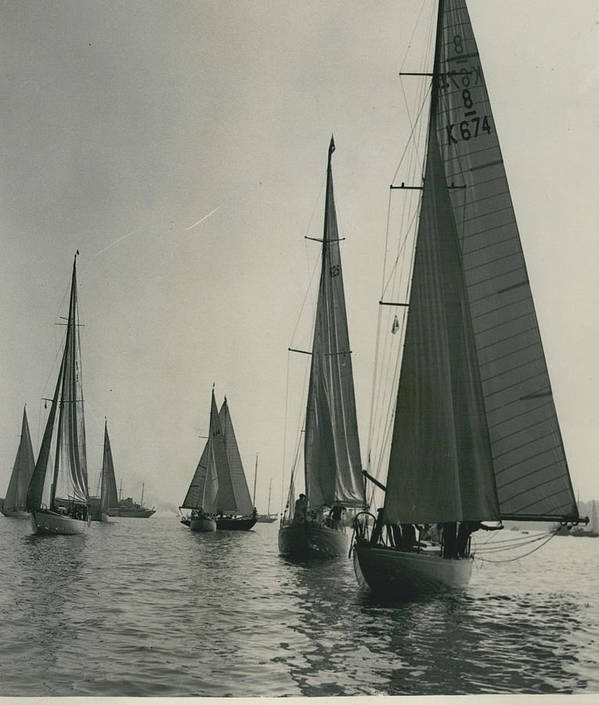 retro Images Archive Poster featuring the photograph Yachting At Cowes�all They Wan - Is A Breeze by Retro Images Archive