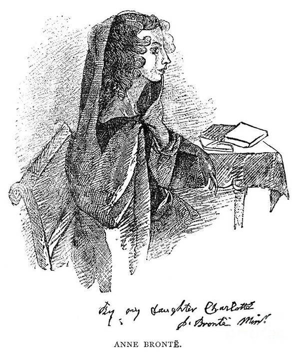 19th Century Poster featuring the photograph Anne BrontË (1820-1849) by Granger
