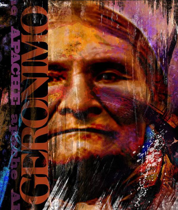 Joe Mueller Poster featuring the painting Geronimo by Joe Mueller
