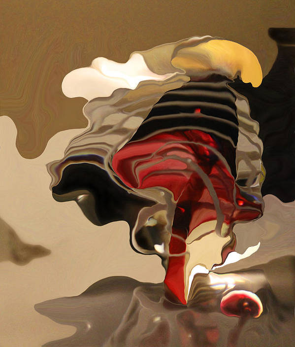 Abstract Poster featuring the photograph Mushroom by Laurel Maul