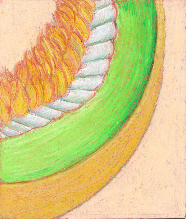 Honeydew Poster featuring the pastel Honeydew by Dawn Marie Black
