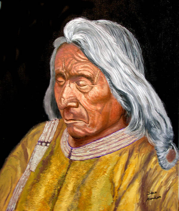 Red Cloud Poster featuring the painting Red Cloud by Stan Hamilton