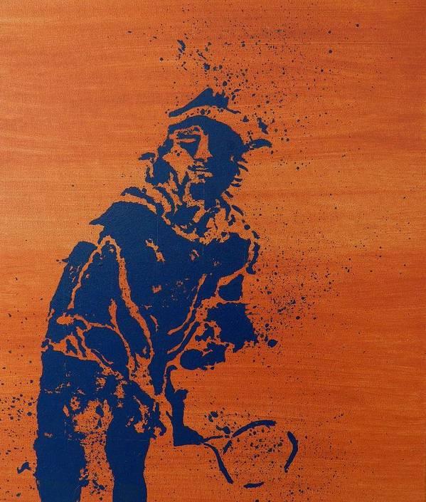Tennis Poster featuring the painting Tennis Splatter by Ken Pursley