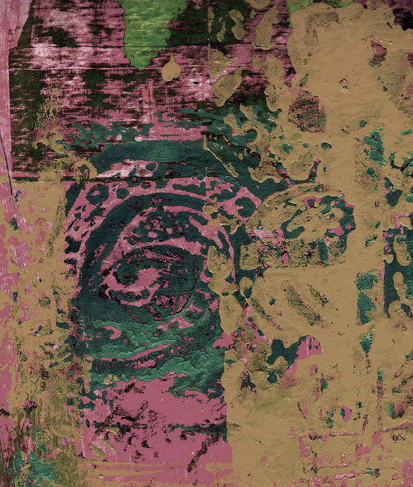 Abstract Poster featuring the painting Watching by Wayne Potrafka