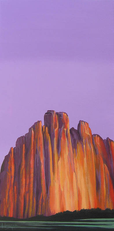 Landscape Poster featuring the painting Inscription Rock by Hunter Jay