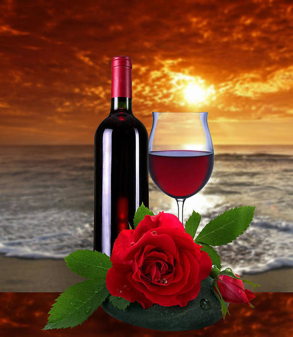 Rose.wine Poster featuring the photograph Closing Time by Manfred Lutzius