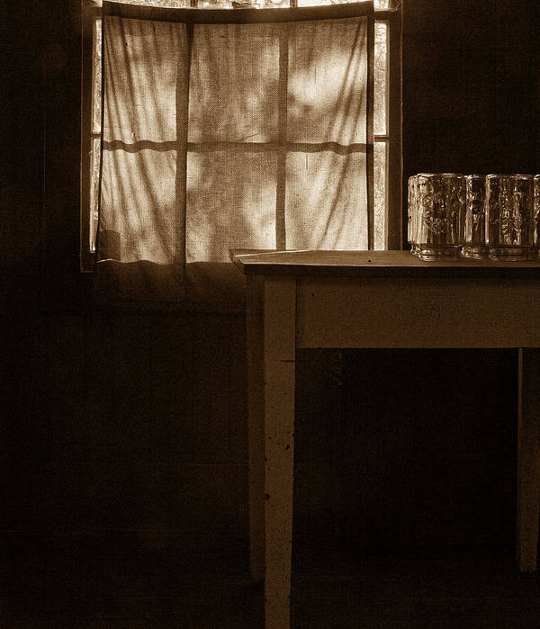 Still Life Photography Poster featuring the photograph Homestead Kitchen by Bonnie Bruno