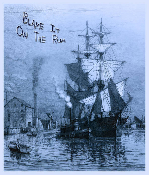 Rum Poster featuring the photograph Blame It On The Rum Schooner by John Stephens