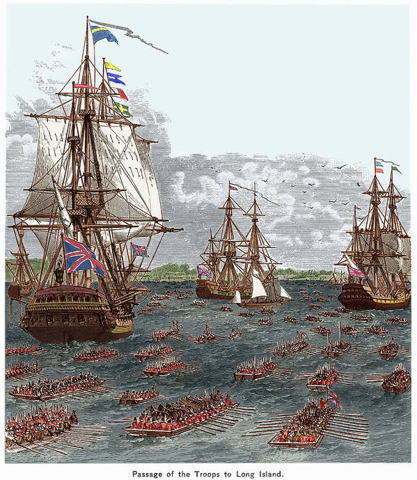 Battle Of Long Island 1776 Poster By Granger