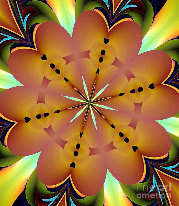 Abstract 144 Poster featuring the digital art Abstract by Maria Urso