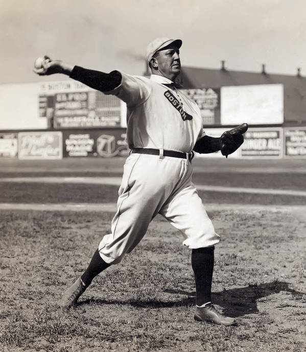 cy Young Poster featuring the photograph Cy Young - American League Pitching Superstar - 1908 by Daniel Hagerman
