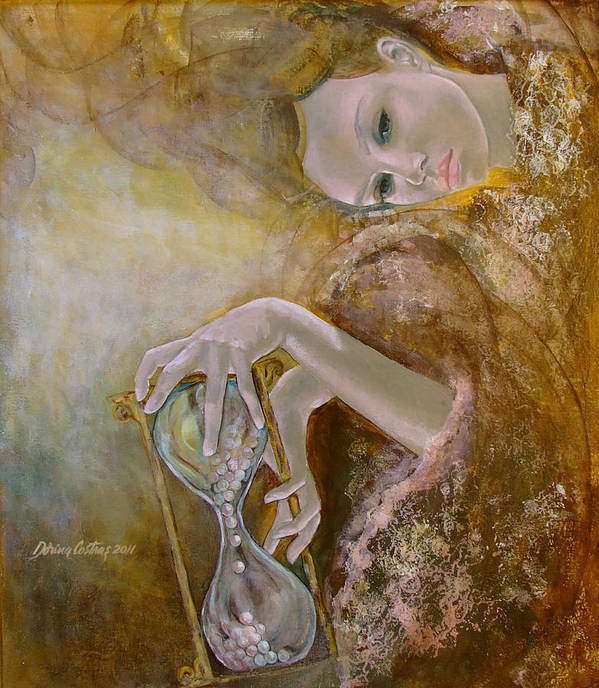 Art Poster featuring the painting Deja Vu by Dorina Costras
