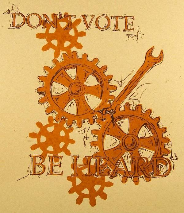 Tree Poster featuring the mixed media Don't Vote by David Honaker