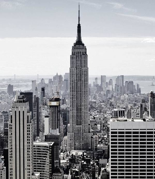 Empire State Poster featuring the mixed media Empire State by CD Kirven