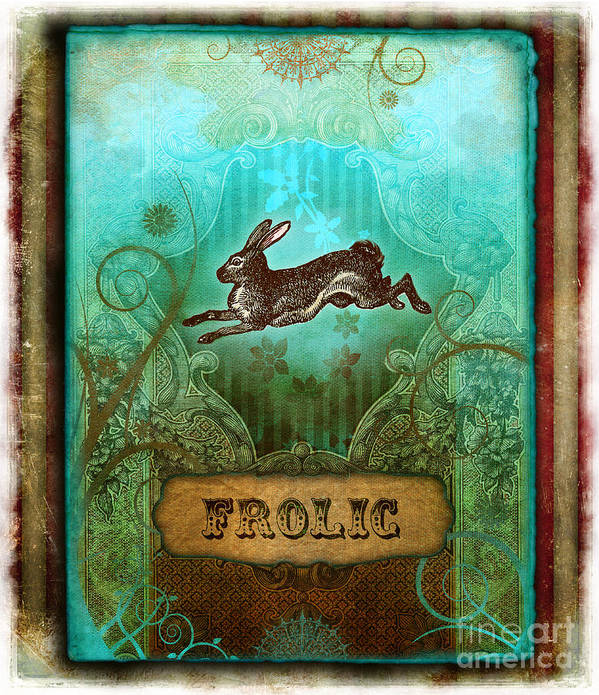 Andrew Farley Poster featuring the digital art Frolic by Aimee Stewart