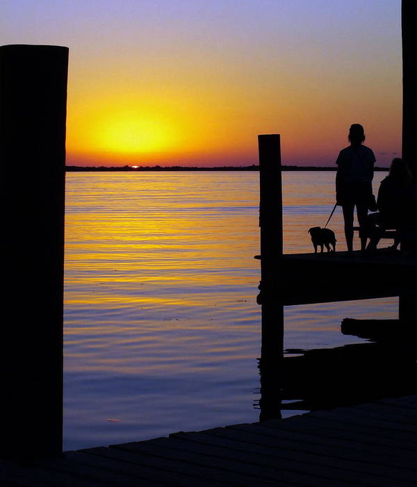 Sunsets Poster featuring the photograph Goodnight Sun by Karen Wiles