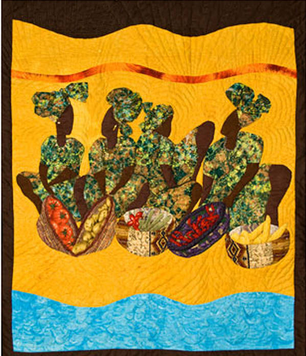Gumbo Poster featuring the tapestry - textile Gumbo Ladies by Aisha Lumumba