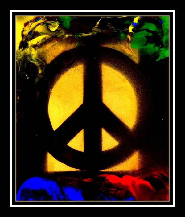 Peace Poster featuring the mixed media I Dream Of Peace by Wendie Busig-Kohn