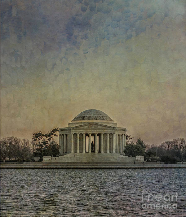 Jefferson Poster featuring the photograph Jefferson Memorial At Dusk by Terry Rowe