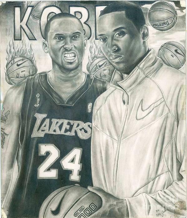 Kobe Poster featuring the drawing Kobe Bryant by Kobe Carter