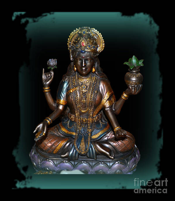 Lakshmi Poster featuring the photograph Lakshmi Hindu Goddess by Eva Thomas