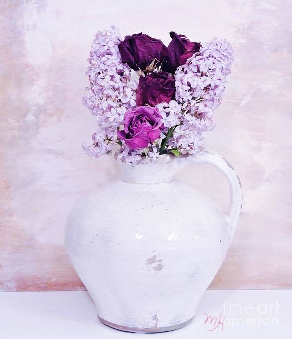 Photo Poster featuring the photograph Lilacs And Roses by Marsha Heiken