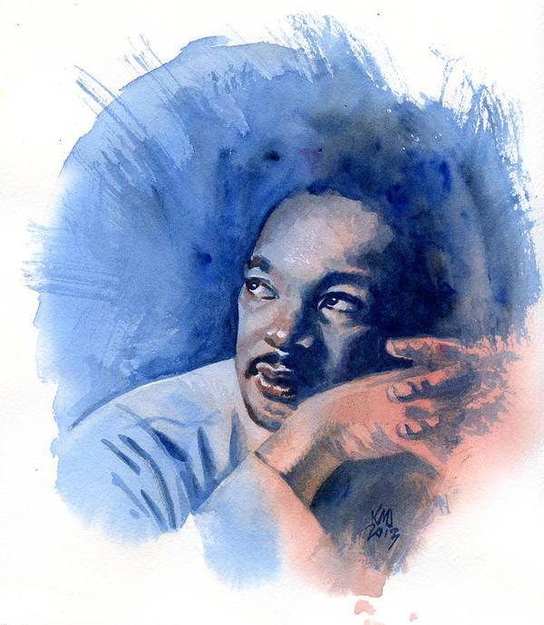 Martin Luther King Jr Poster featuring the painting Mlk Day by Ken Meyer jr