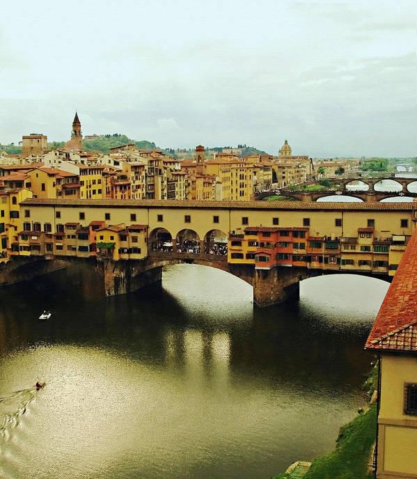 Ponte Vecchio Poster featuring the photograph Ponte Vecchio 2 by Ellen Henneke