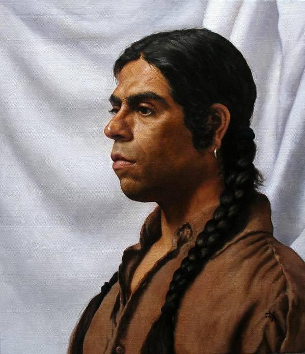 Portrait Poster featuring the painting Raven's Portrait by Deborah Allison